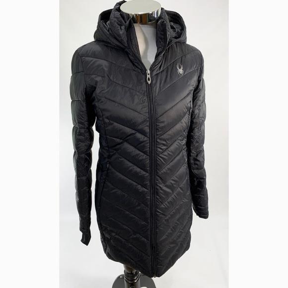 825cd562a8 Spyder Women s Knee Full Zip Hooded Puffer Coat